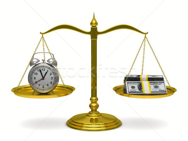 Vakit nakittir yalıtılmış 3D görüntü para saat Stok fotoğraf © ISerg