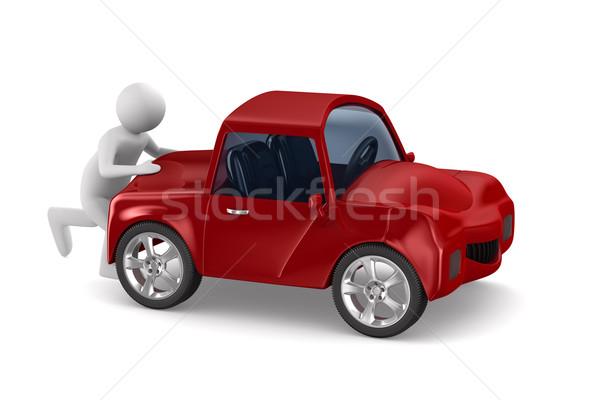 Uomo auto rotta isolato 3D immagine modello Foto d'archivio © ISerg