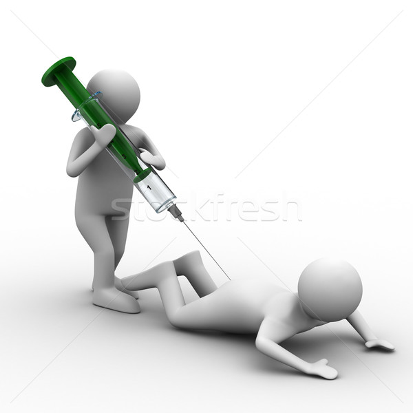 Médecin injection patient isolé 3D image Photo stock © ISerg