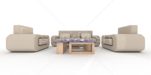 ストックフォト: インテリア · リビングルーム · 3D · 画像 · ホーム · 表