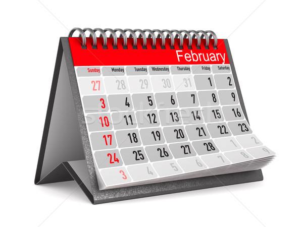 Calendar for February. Isolated 3D illustration Stock photo © ISerg