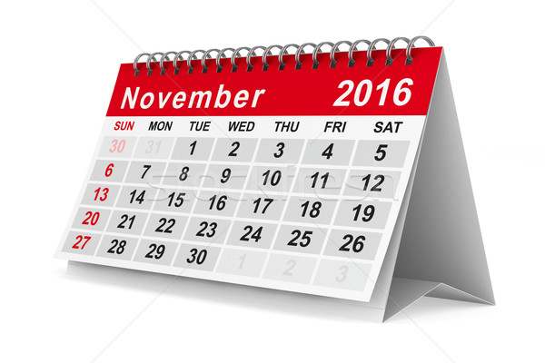 2016 year calendar. November. Isolated 3D image Stock photo © ISerg