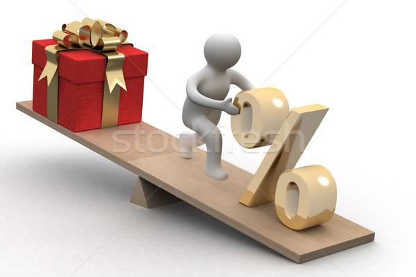 Foto stock: Presentes · isolado · 3D · imagem · negócio · compras