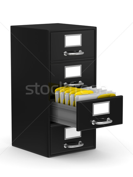Filing cabinet on white. Isolated 3D image Stock photo © ISerg