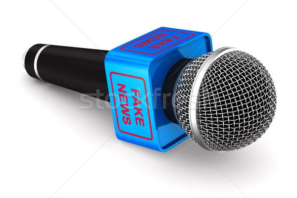 microphone on white background. Isolated 3D illustration Stock photo © ISerg