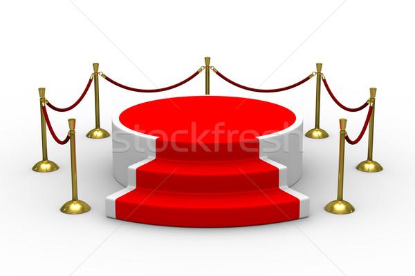 Stockfoto: Podium · witte · geïsoleerd · 3D · afbeelding · succes