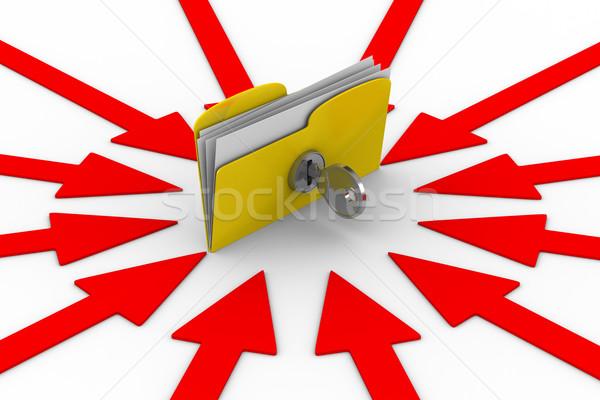 Proteção dados isolado 3D imagem computador Foto stock © ISerg