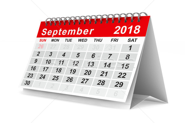 2018 year calendar. September. Isolated 3D illustration Stock photo © ISerg