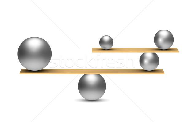 сбалансированный белый изолированный 3d иллюстрации аннотация Сток-фото © ISerg