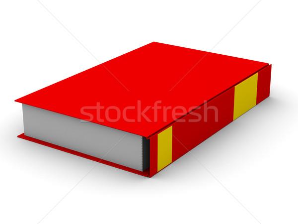 Zárva könyv fehér izolált 3D kép Stock fotó © ISerg