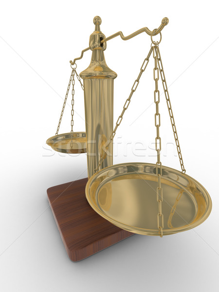 Scales justice on a white background. Isolated 3D image Stock photo © ISerg