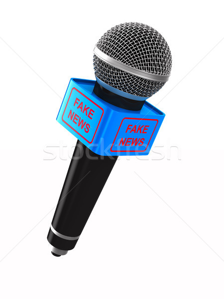 microphone on white background. Isolated 3D illustration Stock photo © ISerg