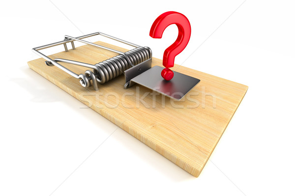 mousetrap on white background. Isolated 3D image Stock photo © ISerg