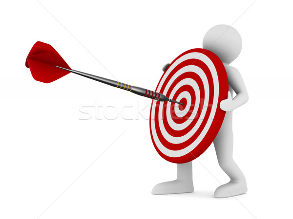 Dart on white background. Isolated 3D illustration Stock photo © ISerg