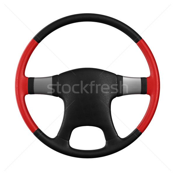 Kierownica biały odizolowany 3d ilustracji samochodu sportu Zdjęcia stock © ISerg