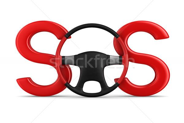 車 サービス 白 孤立した 3次元の図 赤 ストックフォト © ISerg