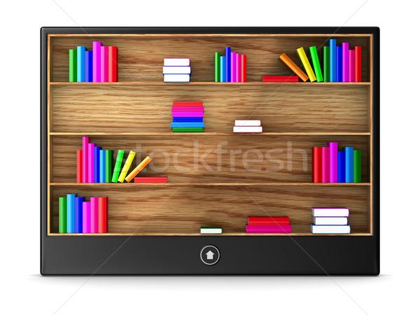 tablet on white background. Isolated 3D image Stock photo © ISerg