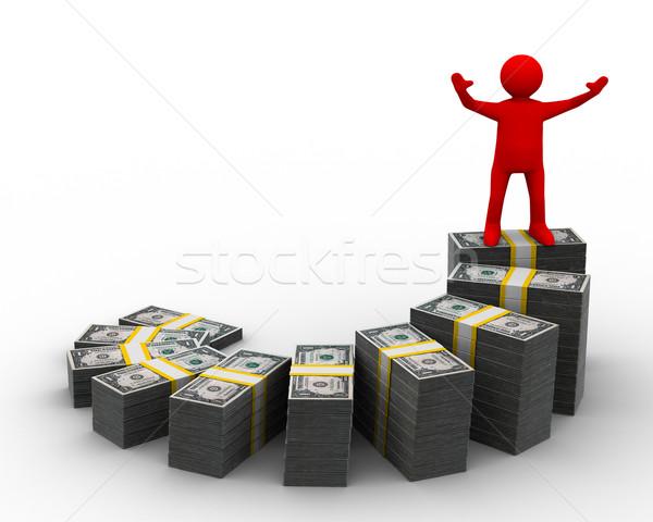 Foto stock: Financeiro · crescimento · isolado · 3D · imagem · negócio