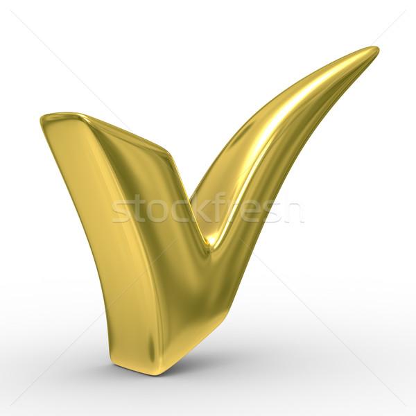Zdjęcia stock: Duży · pozytywny · symbol · biały · odizolowany · 3D