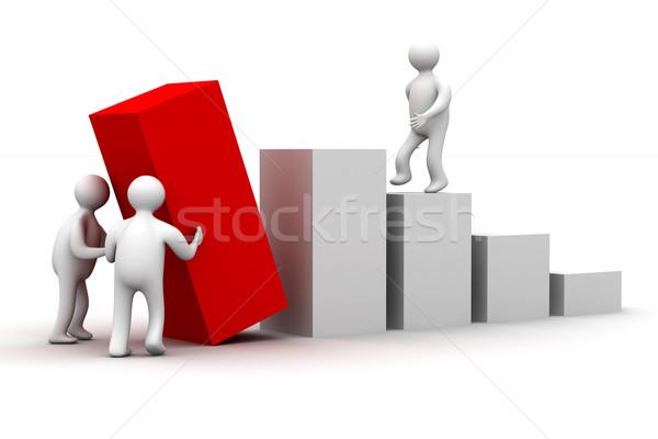 Foto stock: Diagrama · crecimiento · 3D · imagen · aislado · ilustración