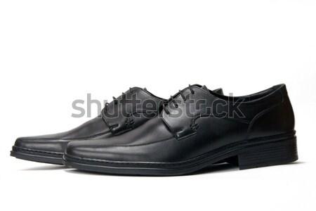 New elegant boots on a white background Stock photo © ISerg