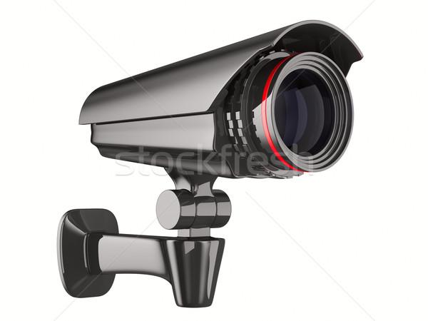 Bewakingscamera witte geïsoleerd 3D afbeelding technologie Stockfoto © ISerg