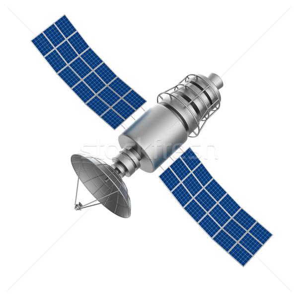 satellite on white background. Isolated 3D illustration Stock photo © ISerg