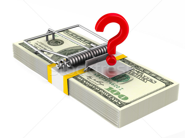 Financial risk. Isolated 3D illustration Stock photo © ISerg