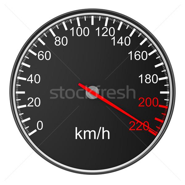 speedometer on white background. 3D image Stock photo © ISerg
