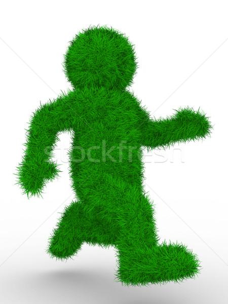 Stockfoto: Lopen · persoon · witte · geïsoleerd · 3D · afbeelding