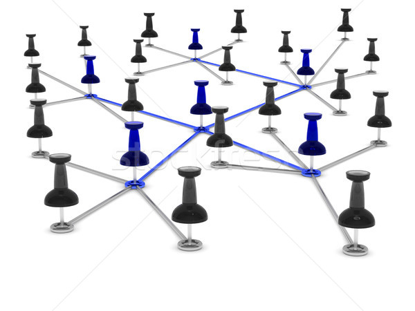 Concept network on white background. Isolated 3D illustration Stock photo © ISerg
