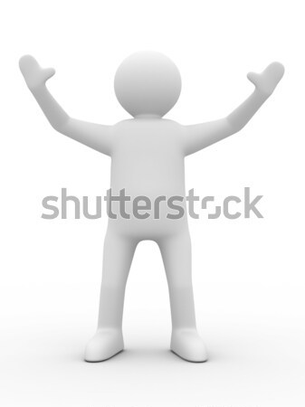 person in greeting pose. Isolated 3D image Stock photo © ISerg