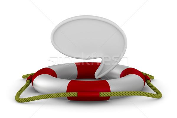 Stock fotó: Fehér · izolált · 3D · kép · segítség · úszás