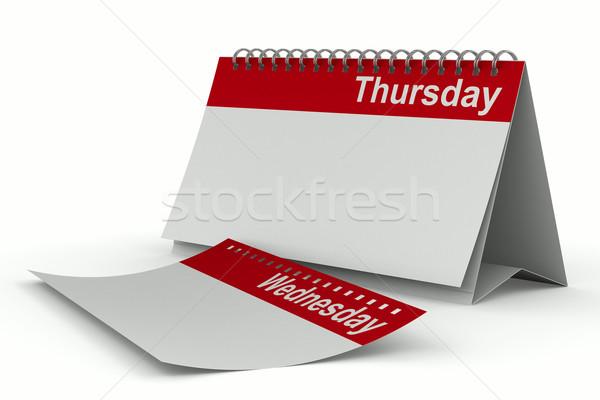 Calendar for thursday on white background. Isolated 3D image Stock photo © ISerg