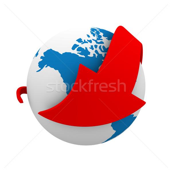 Сток-фото: связи · белый · изолированный · 3D · изображение · бизнеса
