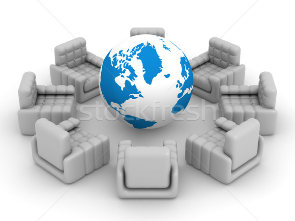 восемь Постоянный вокруг мира 3D изображение Сток-фото © ISerg