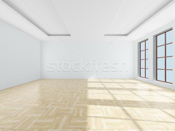 üres szoba 3D kép ház fal keret Stock fotó © ISerg