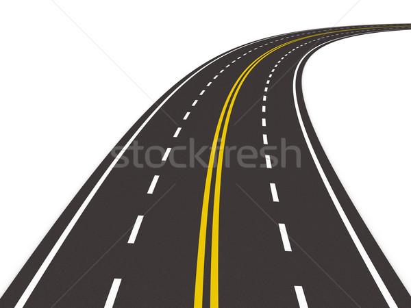 Straße weiß isoliert 3D Bild Reise Stock foto © ISerg
