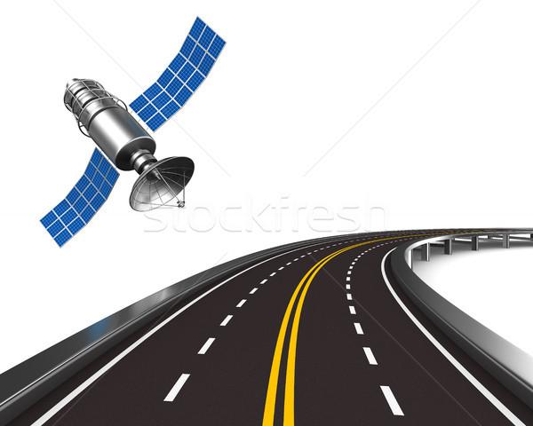 navigation system on white background. Isolated 3d illustration Stock photo © ISerg