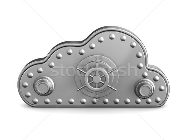 雲 ロック 白 孤立した 3次元の図 インターネット ストックフォト © ISerg