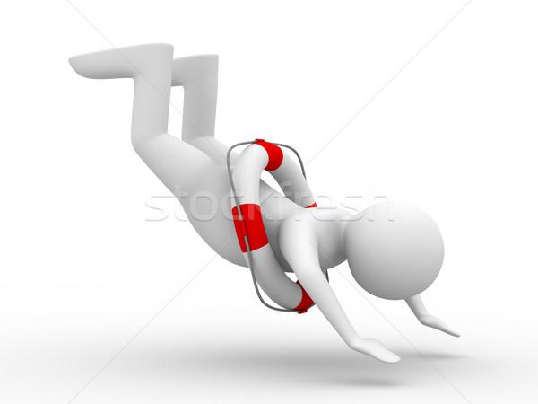 falling man on white background. Isolated 3D image Stock photo © ISerg