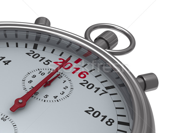 year calendar on stopwatch. Isolated 3D image Stock photo © ISerg