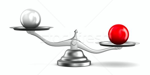 Scales on white background. Isolated 3D image Stock photo © ISerg