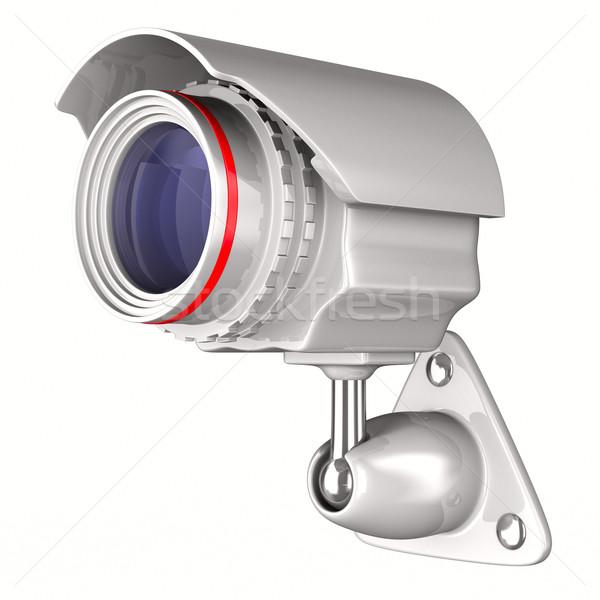 Aparatu bezpieczeństwa biały odizolowany 3D obraz telewizji Zdjęcia stock © ISerg