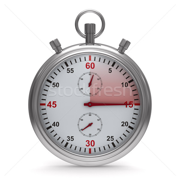Stopwatch on white background. Isolated 3D image Stock photo © ISerg