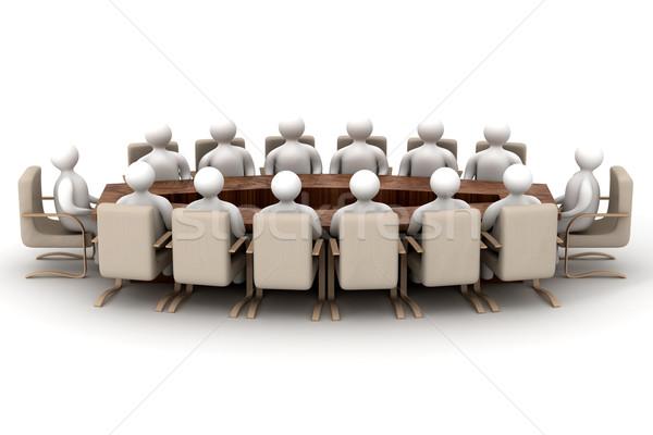 Foto stock: Conferencia · blanco · 3D · imagen · negocios · reunión