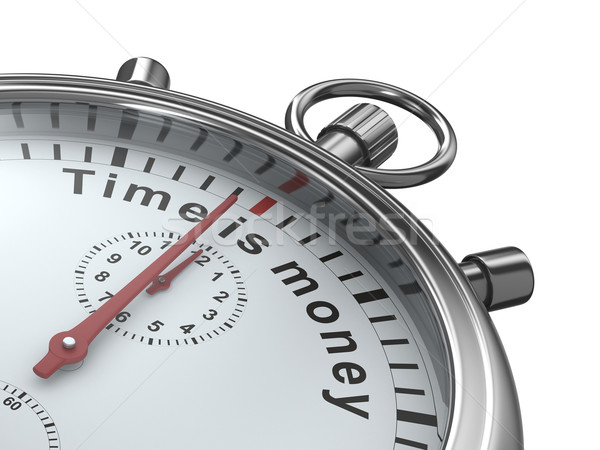 Il tempo è denaro cronometro bianco isolato 3D immagine Foto d'archivio © ISerg