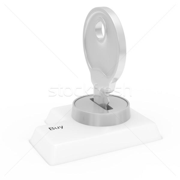Data input blocking. Isolated 3D image on white Stock photo © ISerg