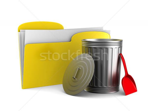 Eltávolítás információ fehér izolált 3D 3d illusztráció Stock fotó © ISerg