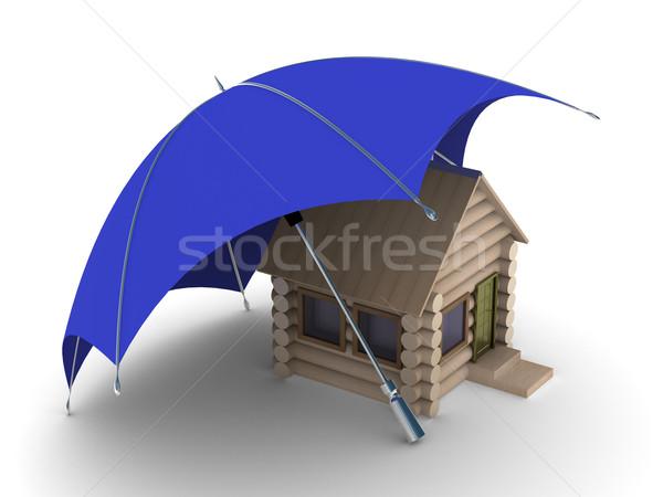 Insurance of habitation. Isolated 3D image on white background Stock photo © ISerg